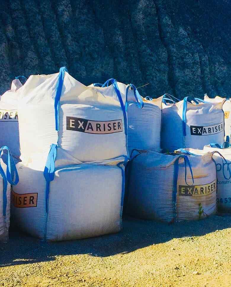 áridos a granel y big-bags